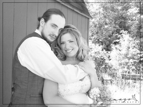 Ashley & Hunter on their wedding day