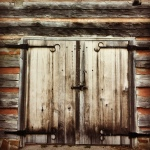 Barn doors at Fowler Park Vigo County