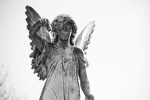 angel, statue, cemetery, Fall